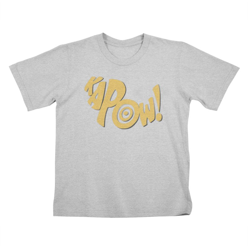 KaPow! Comic Book Sound Effect Kids T-Shirt by Dean Cole Design