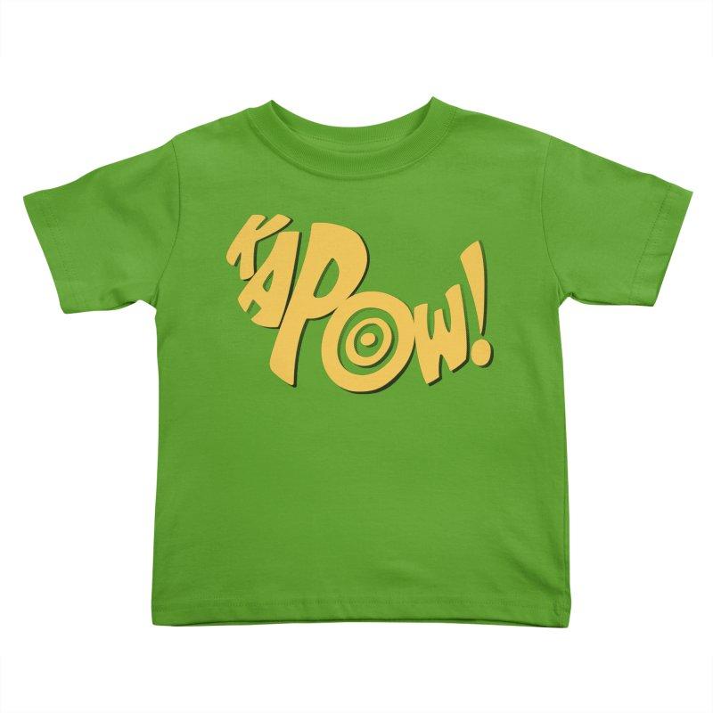 KaPow! Comic Book Sound Effect Kids Toddler T-Shirt by Dean Cole Design
