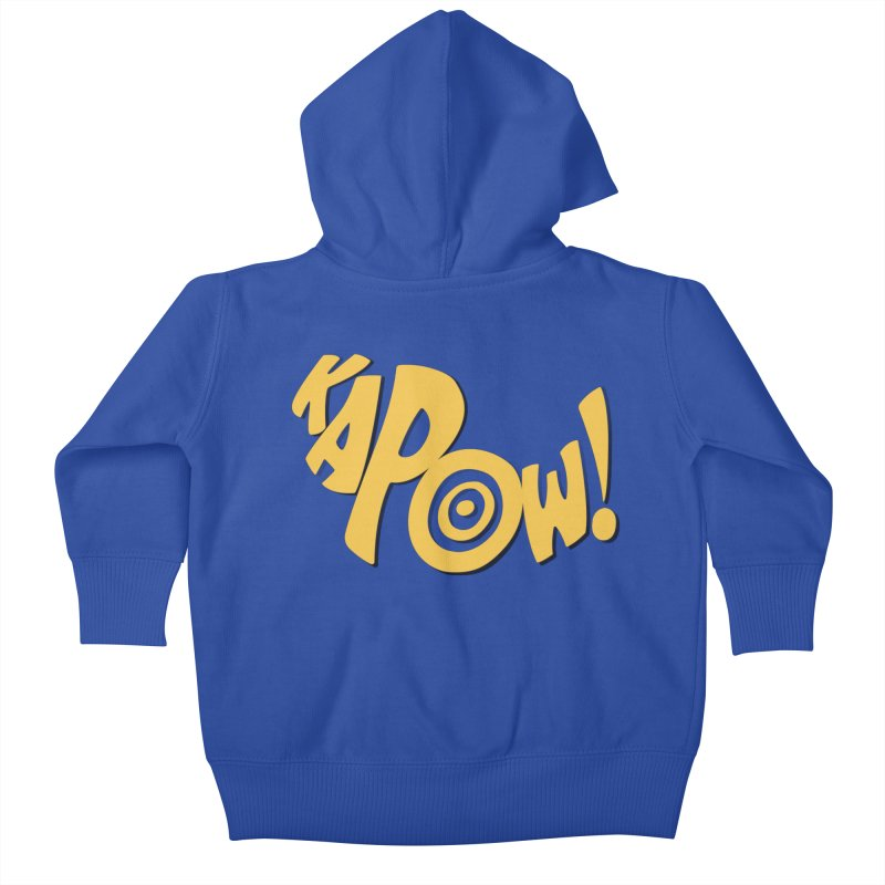 KaPow! Comic Book Sound Effect Kids Baby Zip-Up Hoody by Dean Cole Design