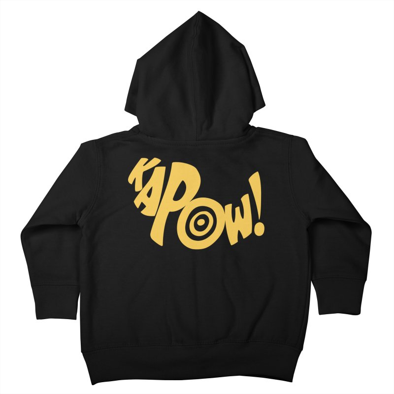 KaPow! Comic Book Sound Effect Kids Toddler Zip-Up Hoody by Dean Cole Design