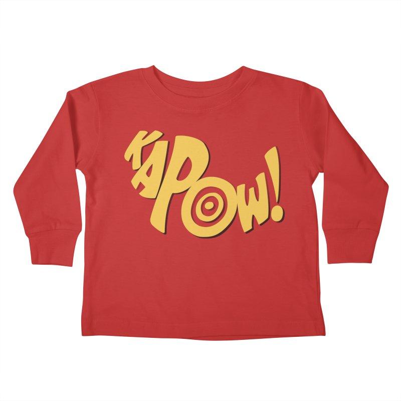 KaPow! Comic Book Sound Effect Kids Toddler Longsleeve T-Shirt by Dean Cole Design