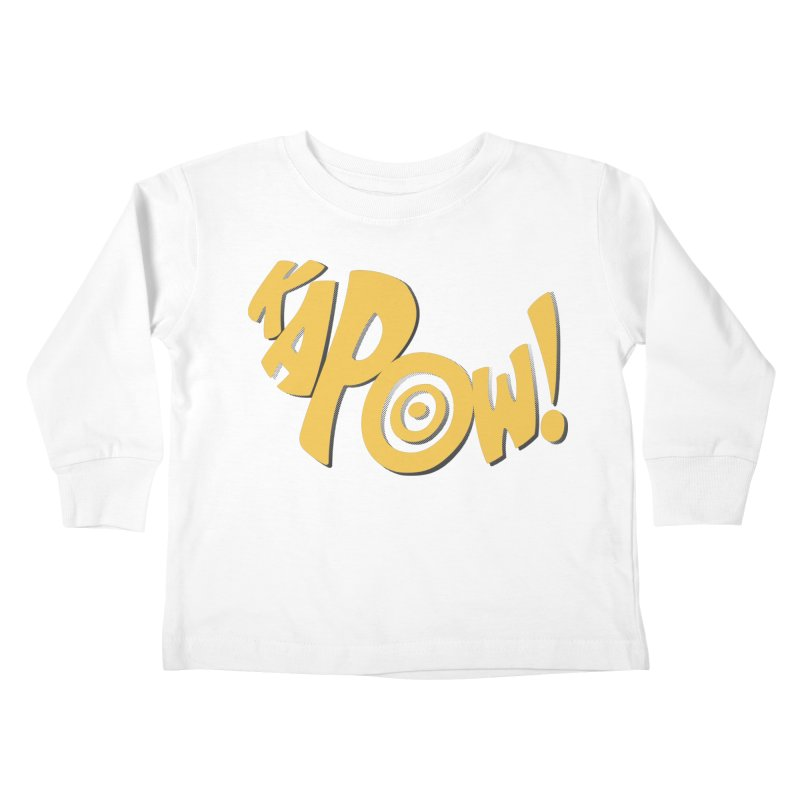 KaPow! Comic Book Sound Effect Kids Toddler Longsleeve T-Shirt by Dean Cole Design