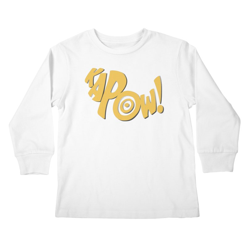 KaPow! Comic Book Sound Effect Kids Longsleeve T-Shirt by Dean Cole Design