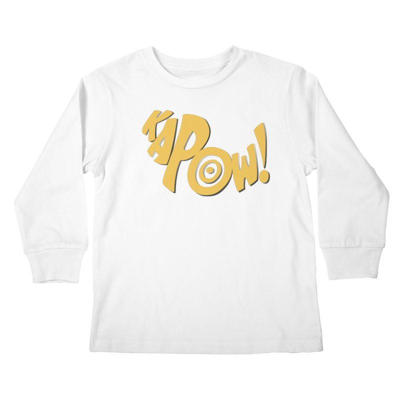 KaPow! Comic Book Sound Effect Kids Longsleeve T-Shirt by Dean Cole Design