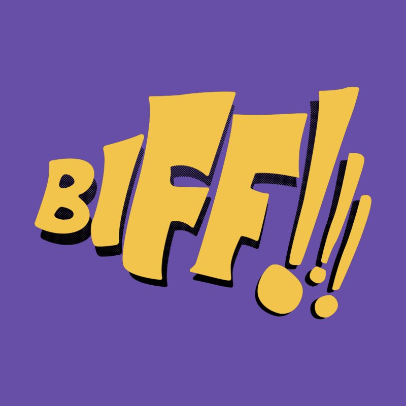 Biff!!! Comic Book Sound Effect Women's T-Shirt by Dean Cole Design