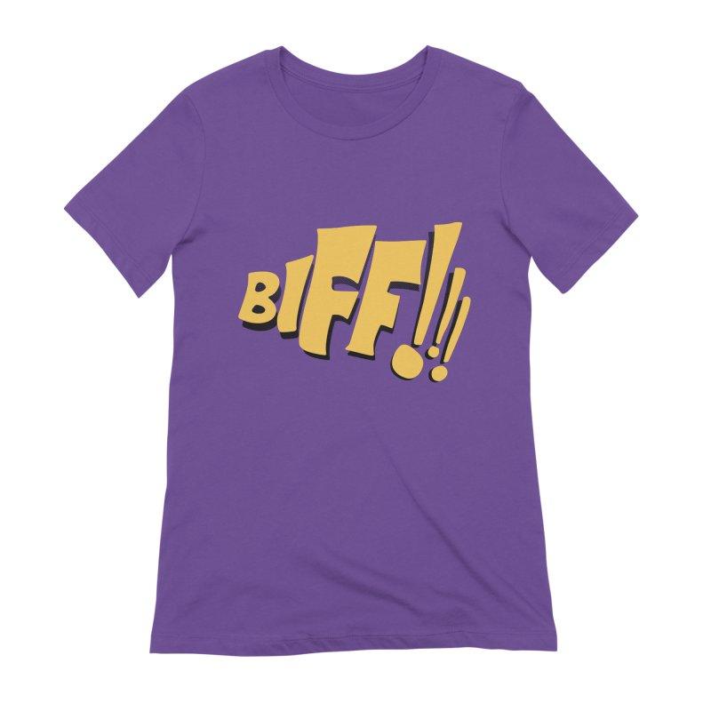 Biff!!! Comic Book Sound Effect Women's Extra Soft T-Shirt by Dean Cole Design