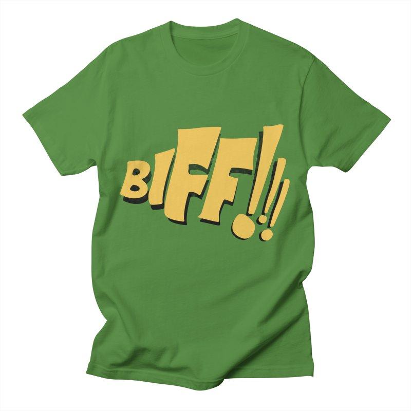 Biff!!! Comic Book Sound Effect Men's T-Shirt by Dean Cole Design