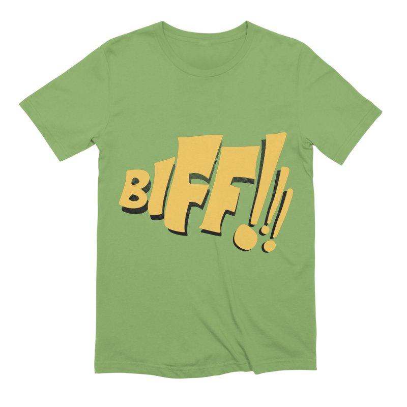 Biff!!! Comic Book Sound Effect Men's Extra Soft T-Shirt by Dean Cole Design