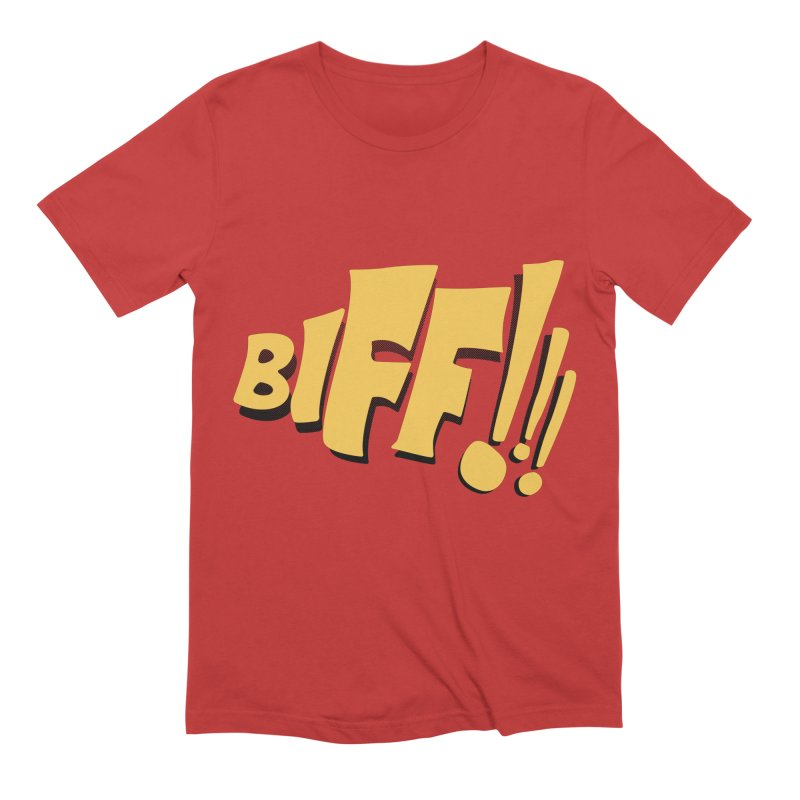 Biff!!! Comic Book Sound Effect Men's Extra Soft T-Shirt by Dean Cole Design