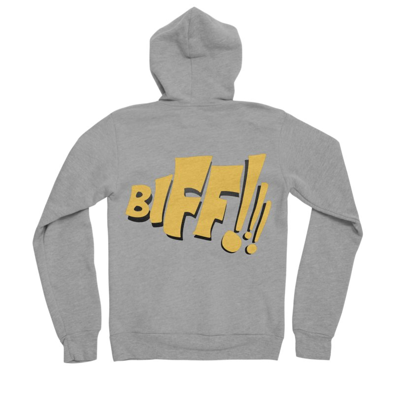 Biff!!! Comic Book Sound Effect Men's Sponge Fleece Zip-Up Hoody by Dean Cole Design