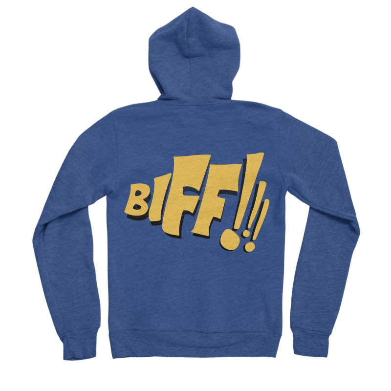 Biff!!! Comic Book Sound Effect Men's Sponge Fleece Zip-Up Hoody by Dean Cole Design