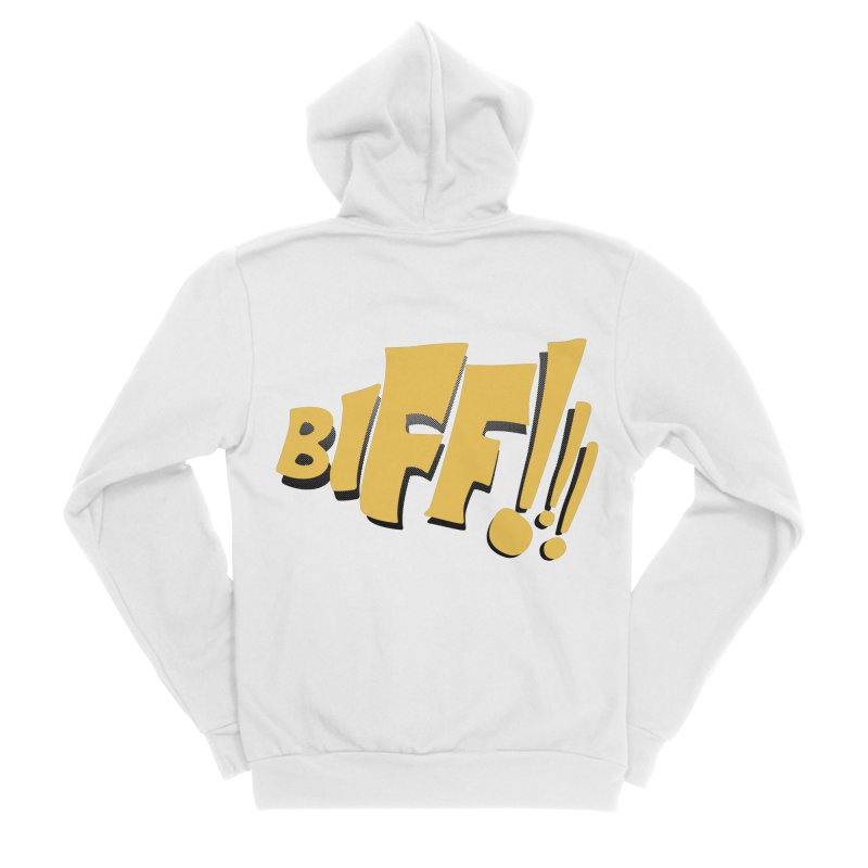 Biff!!! Comic Book Sound Effect Women's Sponge Fleece Zip-Up Hoody by Dean Cole Design