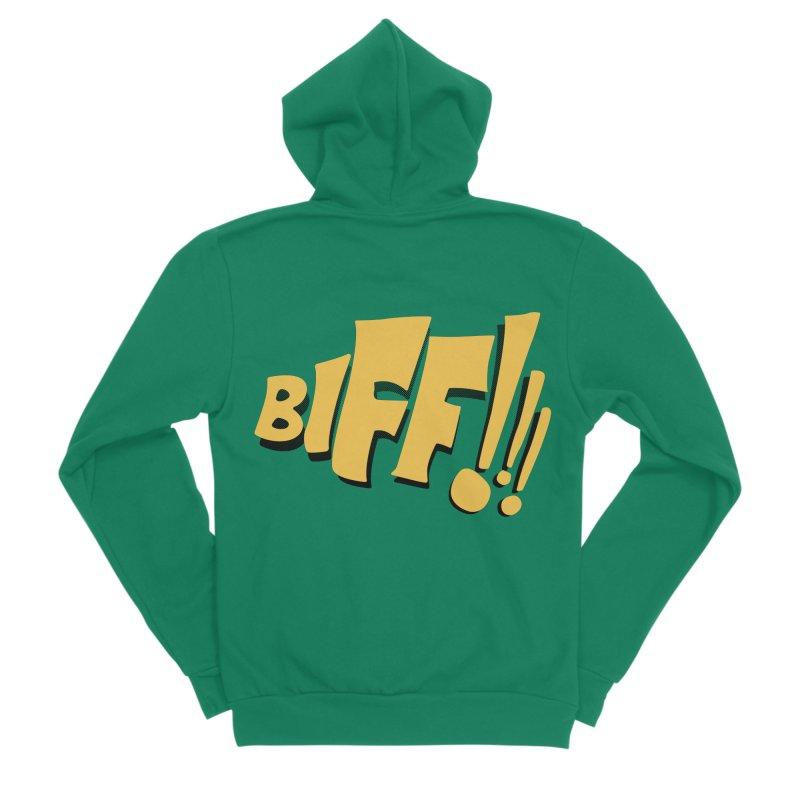 Biff!!! Comic Book Sound Effect Men's Zip-Up Hoody by Dean Cole Design
