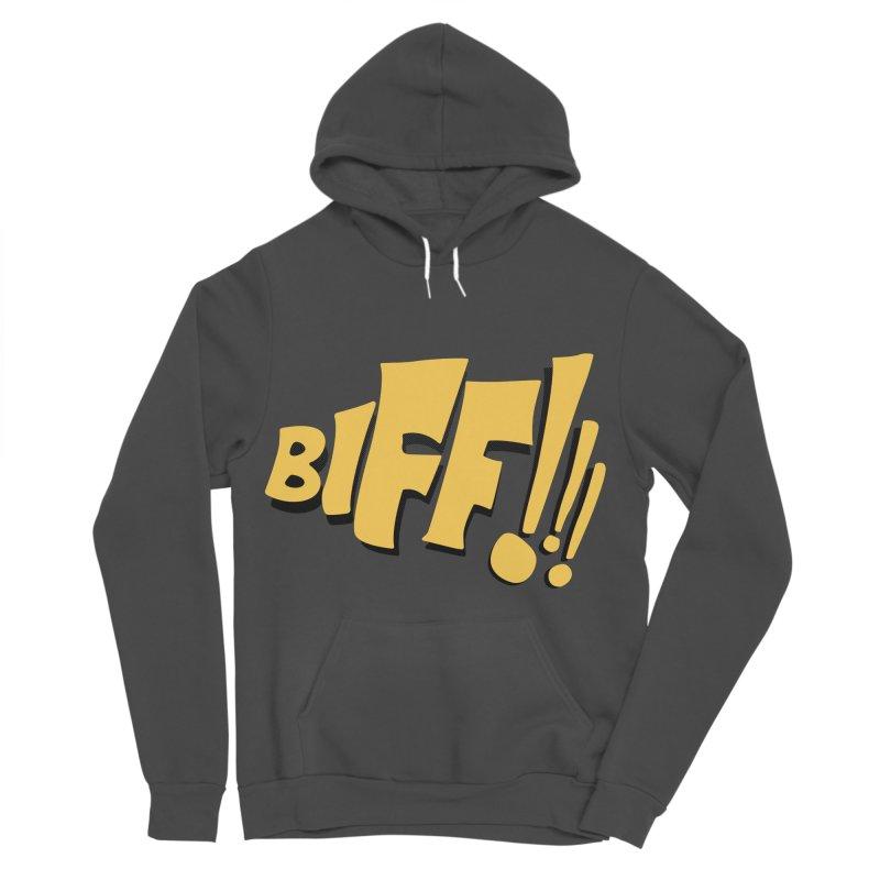 Biff!!! Comic Book Sound Effect Women's Sponge Fleece Pullover Hoody by Dean Cole Design