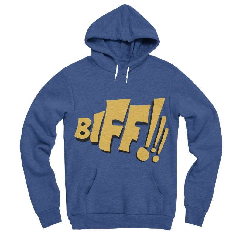 Biff!!! Comic Book Sound Effect Men's Sponge Fleece Pullover Hoody by Dean Cole Design