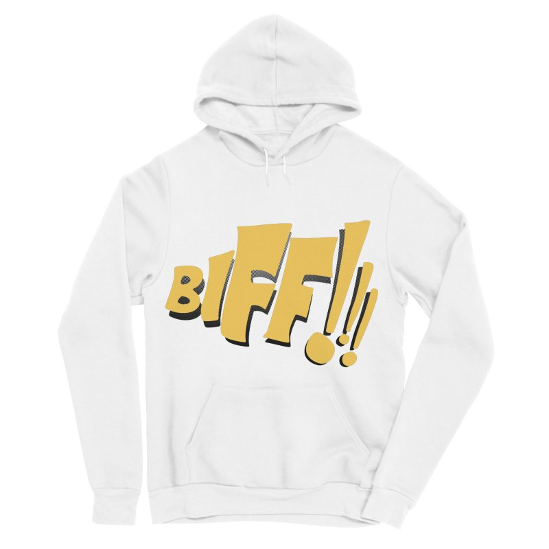 Biff!!! Comic Book Sound Effect Men's Sponge Fleece Pullover Hoody by Dean Cole Design