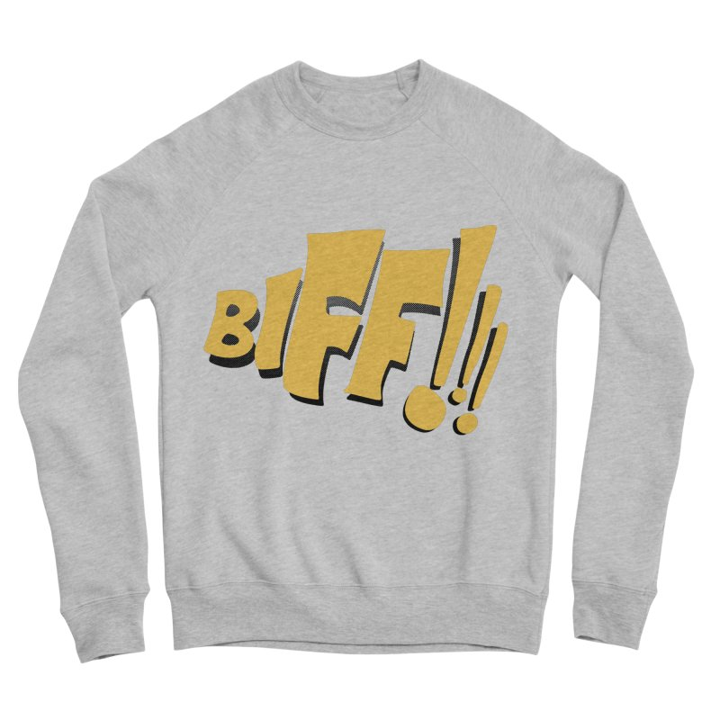 Biff!!! Comic Book Sound Effect Men's Sponge Fleece Sweatshirt by Dean Cole Design