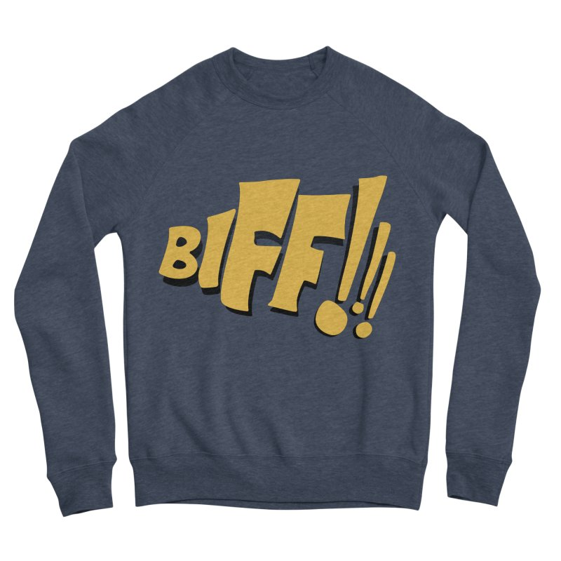 Biff!!! Comic Book Sound Effect Women's Sponge Fleece Sweatshirt by Dean Cole Design