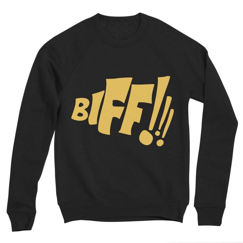 Biff!!! Comic Book Sound Effect Women's Sponge Fleece Sweatshirt by Dean Cole Design