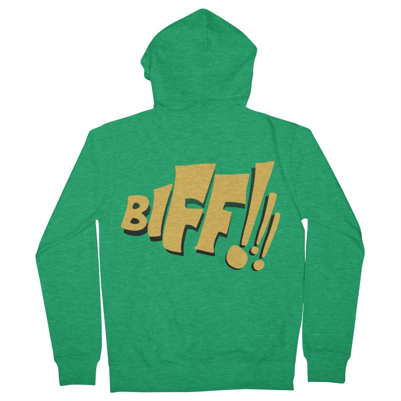 Biff!!! Comic Book Sound Effect Women's Zip-Up Hoody by Dean Cole Design