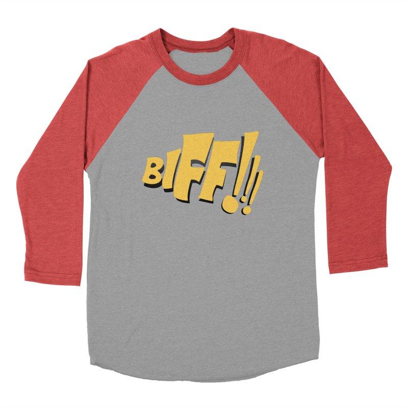 Biff!!! Comic Book Sound Effect Men's Longsleeve T-Shirt by Dean Cole Design