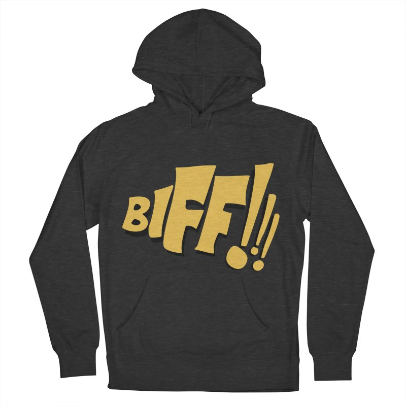 Biff!!! Comic Book Sound Effect Women's French Terry Pullover Hoody by Dean Cole Design