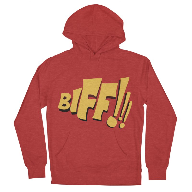 Biff!!! Comic Book Sound Effect Men's French Terry Pullover Hoody by Dean Cole Design