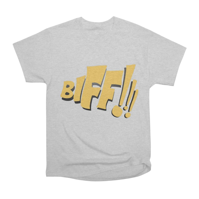 Biff!!! Comic Book Sound Effect Women's Heavyweight Unisex T-Shirt by Dean Cole Design