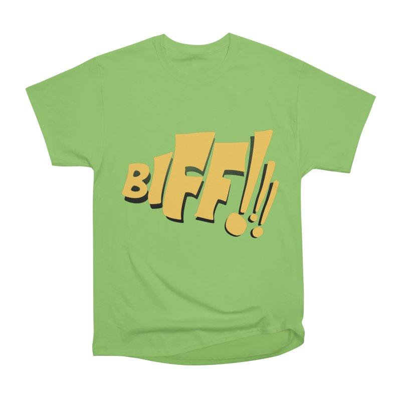 Biff!!! Comic Book Sound Effect Women's Heavyweight Unisex T-Shirt by Dean Cole Design
