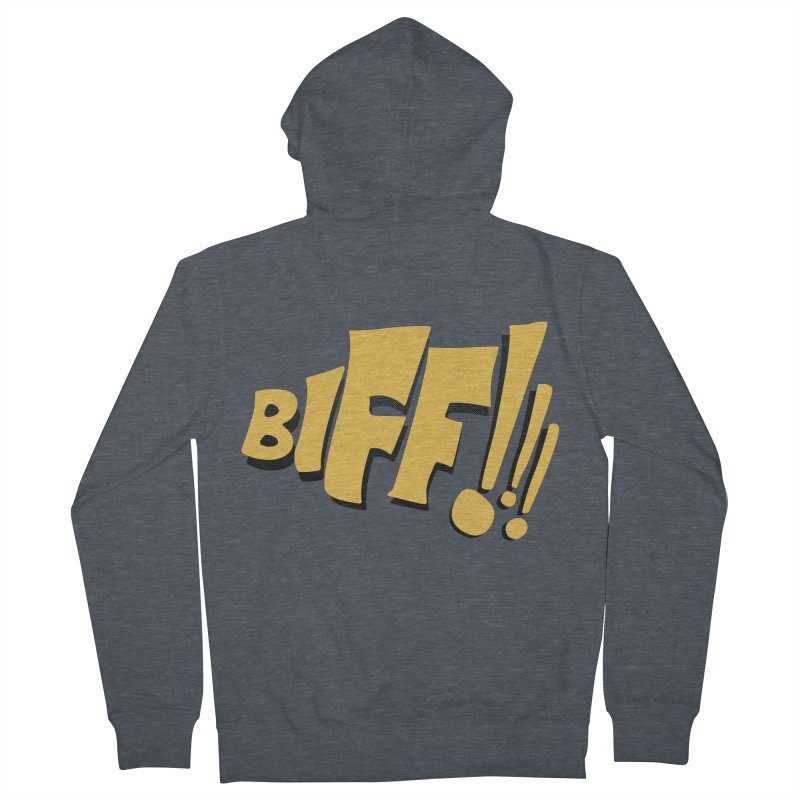 Biff!!! Comic Book Sound Effect Women's French Terry Zip-Up Hoody by Dean Cole Design
