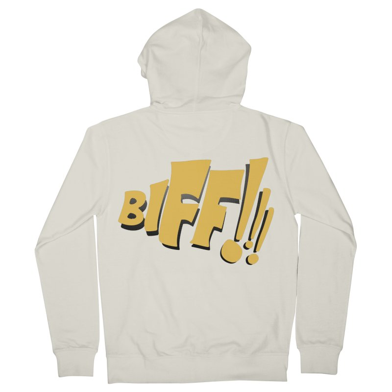 Biff!!! Comic Book Sound Effect Men's French Terry Zip-Up Hoody by Dean Cole Design