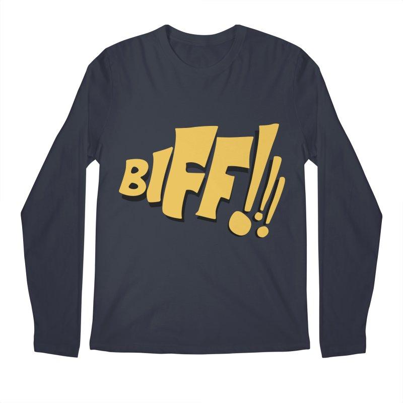 Biff!!! Comic Book Sound Effect Men's Regular Longsleeve T-Shirt by Dean Cole Design