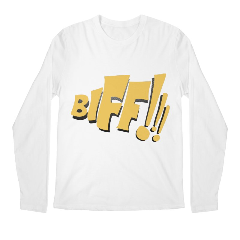 Biff!!! Comic Book Sound Effect Men's Regular Longsleeve T-Shirt by Dean Cole Design