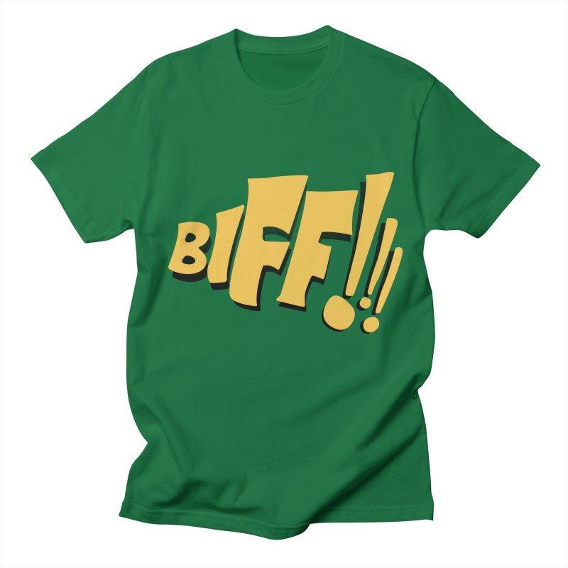 Biff!!! Comic Book Sound Effect Men's Regular T-Shirt by Dean Cole Design