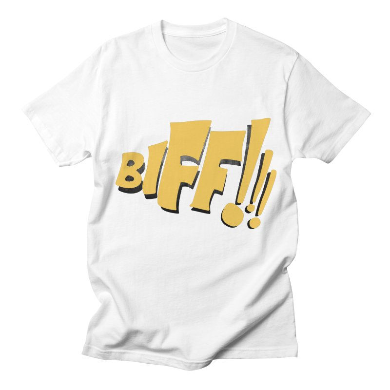 Biff!!! Comic Book Sound Effect Women's Regular Unisex T-Shirt by Dean Cole Design