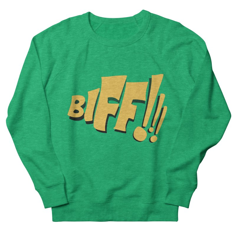 Biff!!! Comic Book Sound Effect Women's Sweatshirt by Dean Cole Design
