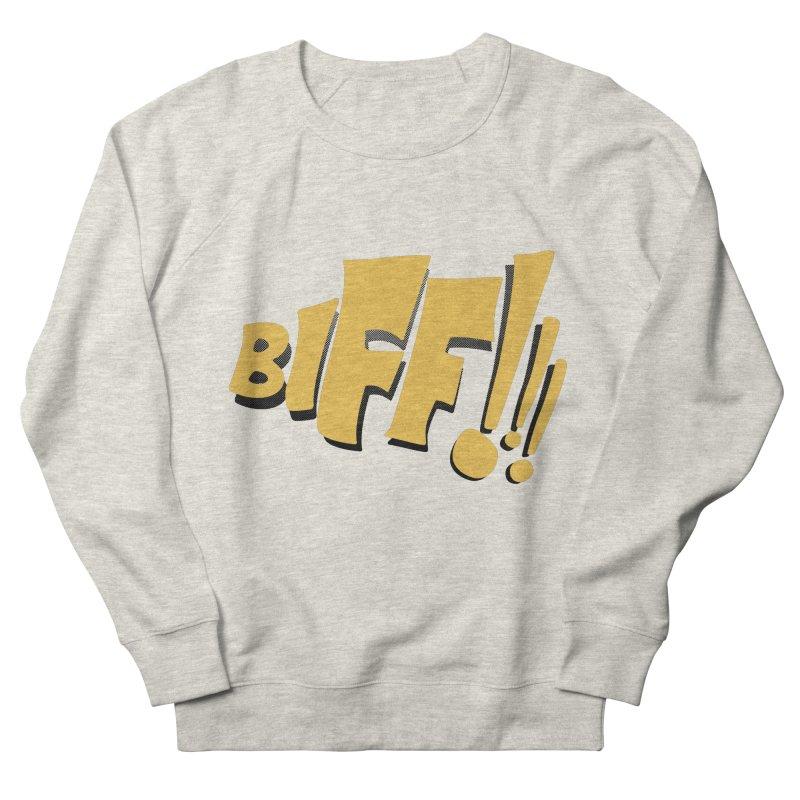 Biff!!! Comic Book Sound Effect Women's French Terry Sweatshirt by Dean Cole Design