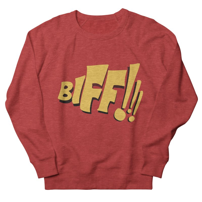 Biff!!! Comic Book Sound Effect Men's French Terry Sweatshirt by Dean Cole Design