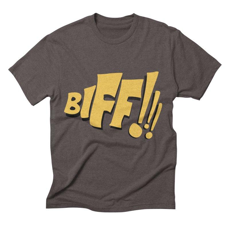 Biff!!! Comic Book Sound Effect Men's Triblend T-Shirt by Dean Cole Design