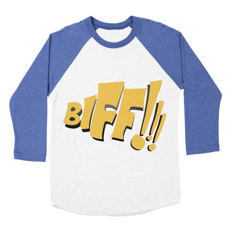 Biff!!! Comic Book Sound Effect Women's Baseball Triblend Longsleeve T-Shirt by Dean Cole Design