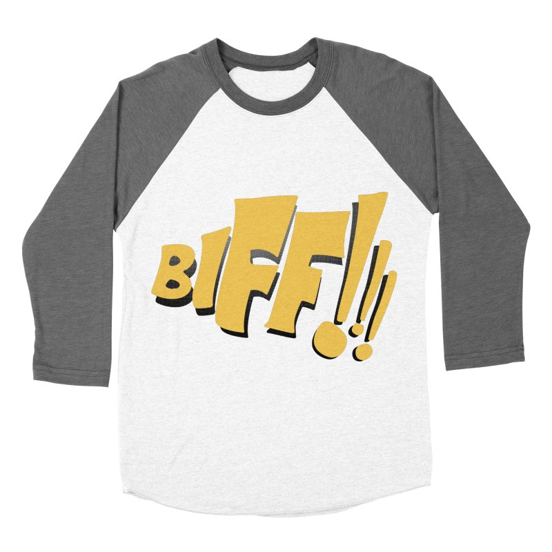 Biff!!! Comic Book Sound Effect Men's Baseball Triblend Longsleeve T-Shirt by Dean Cole Design