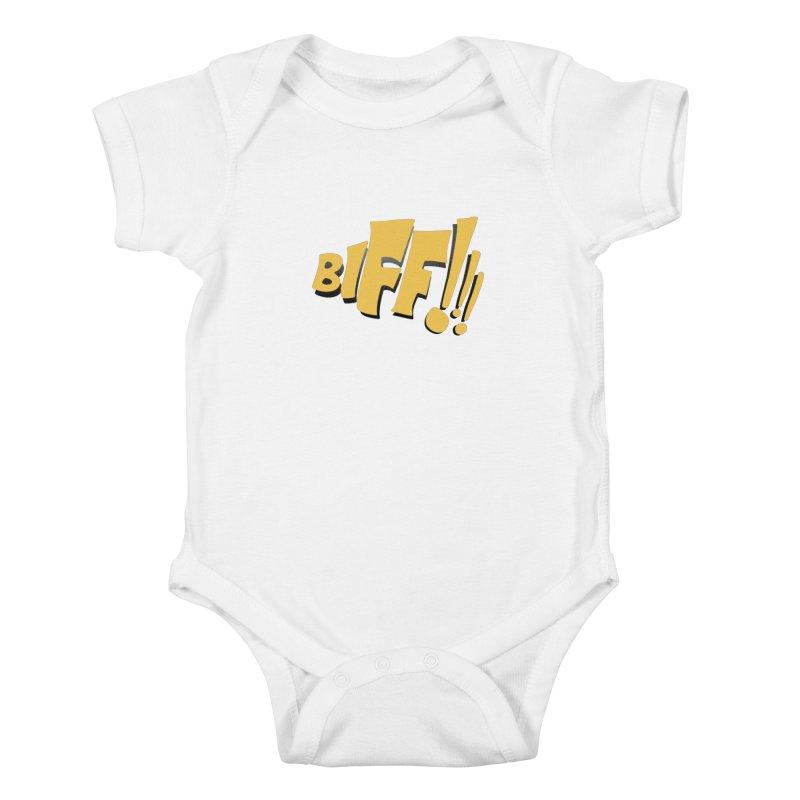 Biff!!! Comic Book Sound Effect Kids Baby Bodysuit by Dean Cole Design
