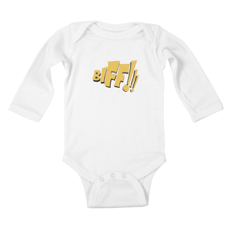 Biff!!! Comic Book Sound Effect Kids Baby Longsleeve Bodysuit by Dean Cole Design