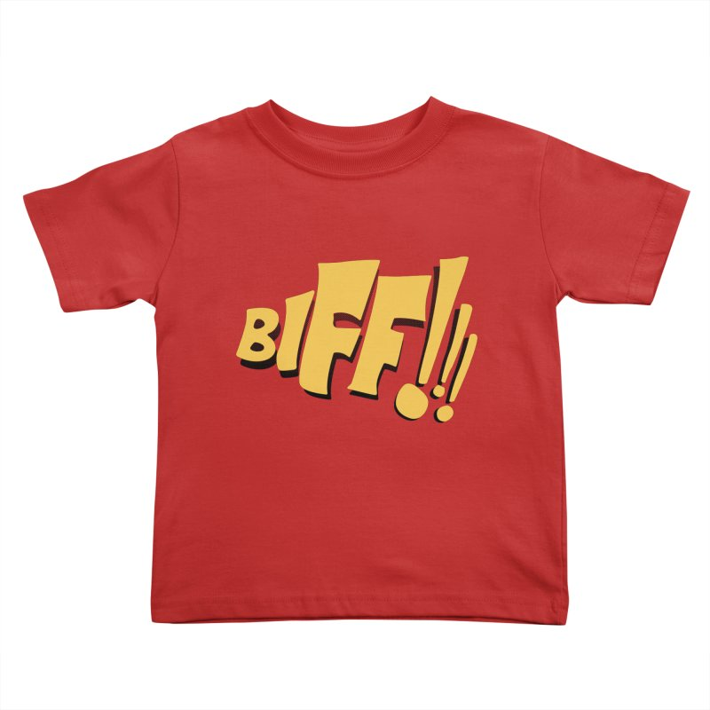 Biff!!! Comic Book Sound Effect Kids Toddler T-Shirt by Dean Cole Design