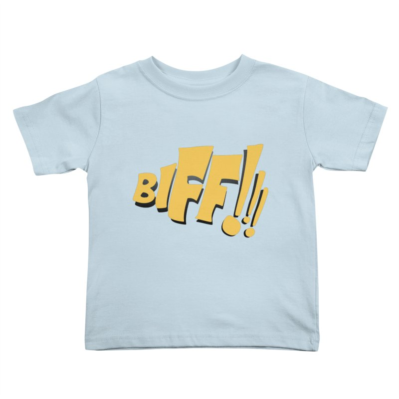 Biff!!! Comic Book Sound Effect Kids Toddler T-Shirt by Dean Cole Design
