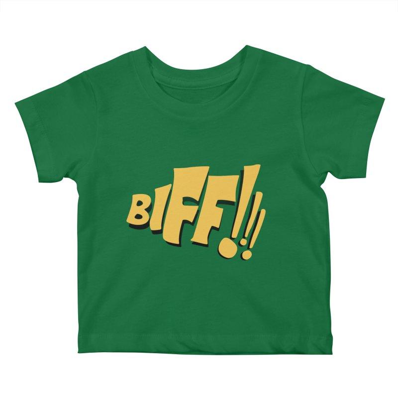 Biff!!! Comic Book Sound Effect Kids Baby T-Shirt by Dean Cole Design