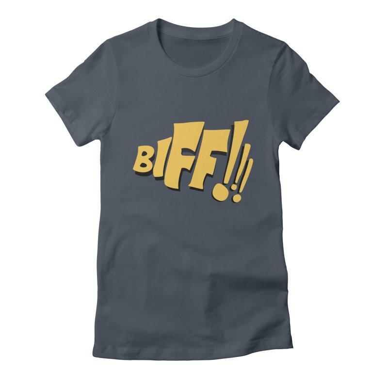 Biff!!! Comic Book Sound Effect Women's T-Shirt by Dean Cole Design