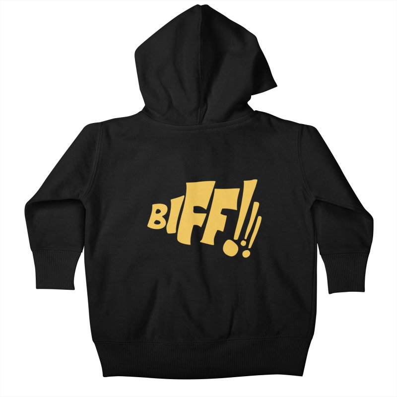 Biff!!! Comic Book Sound Effect Kids Baby Zip-Up Hoody by Dean Cole Design