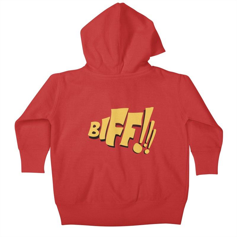 Biff!!! Comic Book Sound Effect Kids Baby Zip-Up Hoody by Dean Cole Design