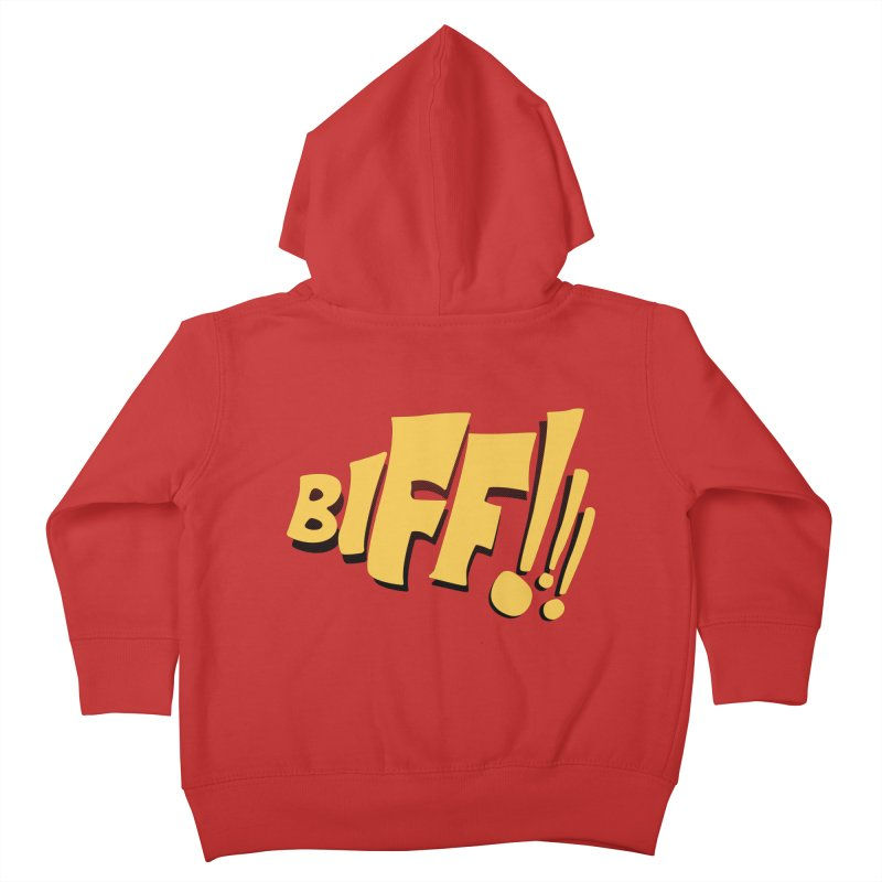 Biff!!! Comic Book Sound Effect Kids Toddler Zip-Up Hoody by Dean Cole Design